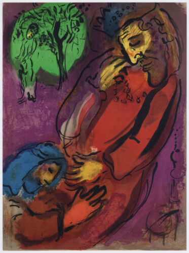 """Marc Chagall """"David and Absalom"""" Bible lithograph"""