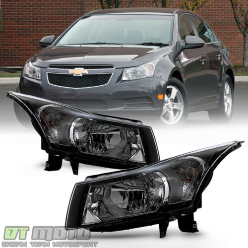 Left+Right 2011-2015 Chevy Cruze Halogen Headlights Headlamps Lights Aftermarket <br/> $Back guarentee,Lowest Price Best quality,FREEship 2way