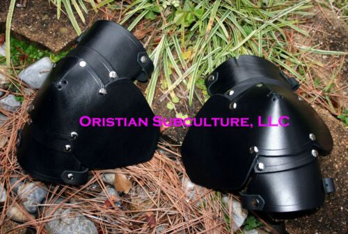 Leather Elbow Cops Arm Armor LARP SCA armour knight medieval fantasy cosplayReenactment & Reproductions - 156374