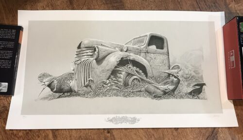 Aaron Horkey Colossus Aground GRAY silkscreen poster grey VACVVM Signed #d S/N
