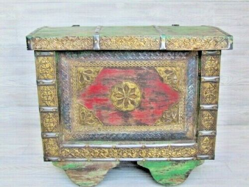 Recycled/Rustic/Reclaimed wood Trunk/Chest with Embossed Brass!! Real Nice!!!
