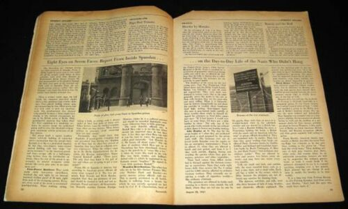 SPANDAU PRISON 1947 REPORT FROM INSIDE DAY-TO-DAY LIFE OF NAZI WAR CRIMINALSOriginal Period Items - 13981