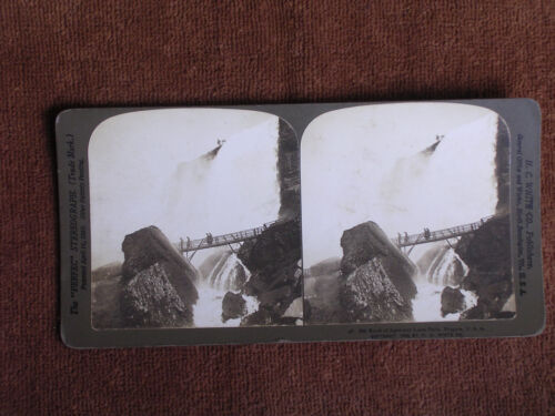 Niagara Falls/Rock of Ages & Luna Falls/1903 H C White Photo Stereoview