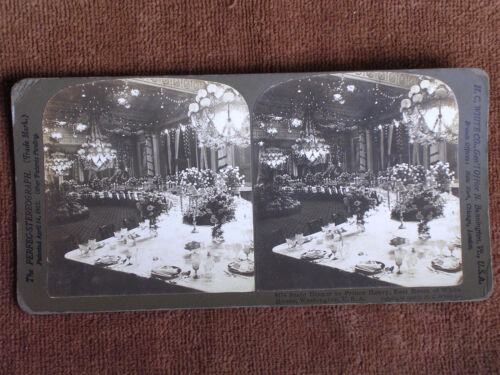 Washington DC/White House East Room-Prince Henry Banquet/H C White Stereoview