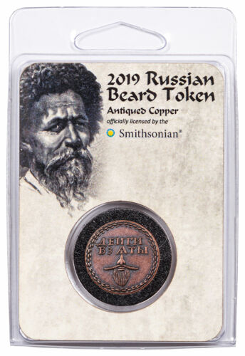 Smithsonian Russian Beard Token Copper Antiqued Medal GEM BU OGP SKU55980 <br/> Buy With Confidence from ModernCoinMart (MCM) on ebay