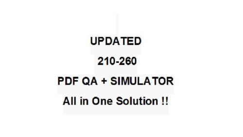 Implementing Cisco Network Security CCNA IINS Test 210-260 Exam QA PDFSimulator