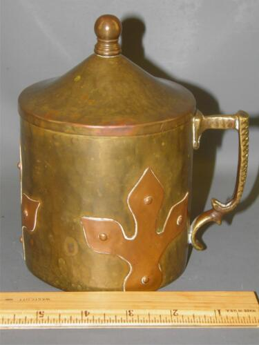 ANTIQUE RUSSIAN HAMMERED BRASS & COPPER ARTS & CRAFTS IMPERIAL MARK HUMIDOR