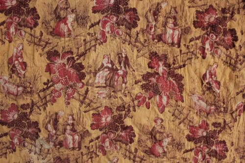 Quilted Textile Daliphard Radepont print 1861 Fabric L'amazone Normandie France