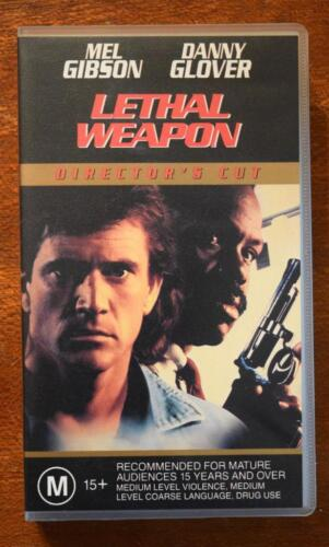 VHS Video LETHAL WEAPON  Mel Gibson Danny Glover DIRECTOR'S CUT - VideoTape