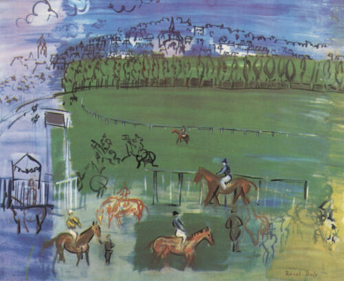 "Raoul Dufy ""Courses a Deauville"" printed by Mourlot"