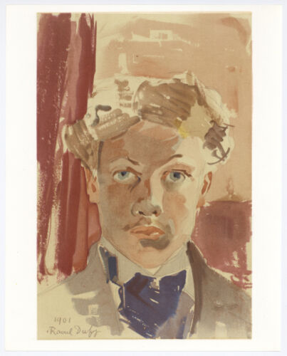 "Raoul Dufy ""Self Portrait"" printed by Mourlot"
