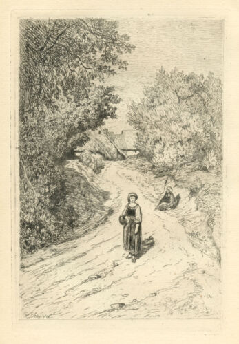 Theophile Narcisse Chauvel original etching