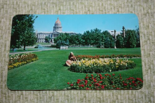 Vintage Postcard Civic Center, Denver, Colo., Fine Lawns And Array Of Flower Bed