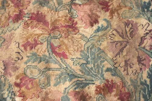 Antique Needlepoint Needlework French 18th century pillow cover RARE 18-19th C.