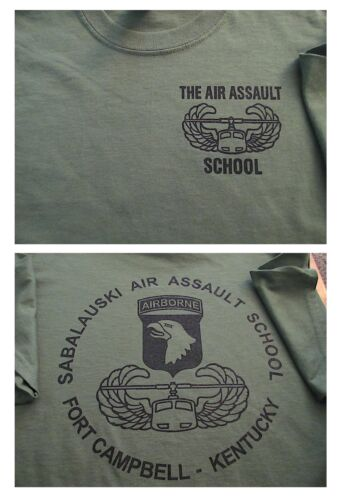 AIR ASSAULT 101 Airborne School SABALAUSKI T-Shirt XXL Ft Campbell KentuckyOther Militaria - 135