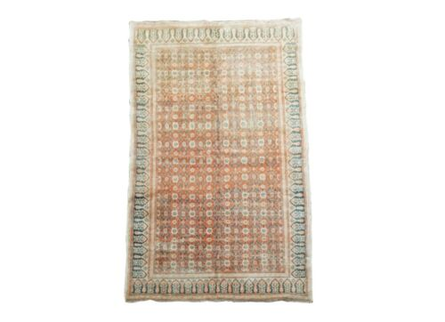 4X7 Antique Cotton Indian Agra Rug Hand-Knotted Carpet, circa 1920 (3.10 x 6.9)