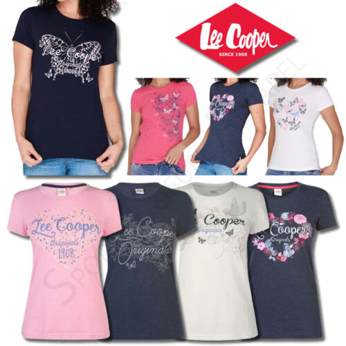 Ladies Tops Lee Cooper T Shirts Womens Short Sleeve Crew Tee Size 10 12 14 16 18