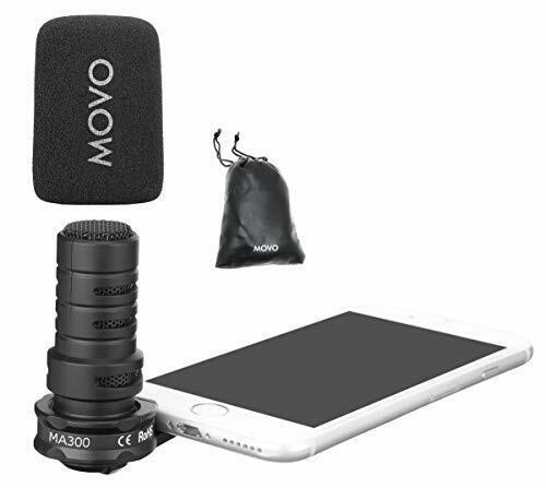 Movo MA300 Omnidirectional TRRS 3.5mm Microphone for Smartphones & Tablets