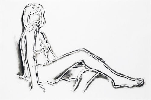 """TOM WESSELMANN """"MONICA SITTING, ONE LEG ON THE OTHER"""" 1994   SIGNED   GALLART"""