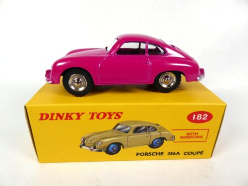 Porsche 356A Coupé rose- DINKY TOYS DeAgostini VOITURE MINIATURE MODEL CAR - 182