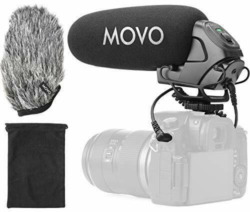 Movo VXR3030 Supercardioid Shotgun Microphone with Headphone Monitoring for DSLR
