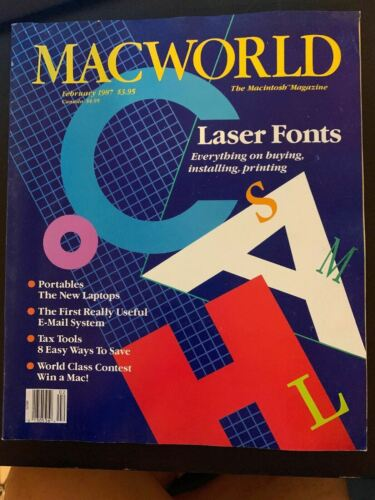Macworld February 1987 The Macintosh Magazine Laser Fonts Special - Vintage Rare