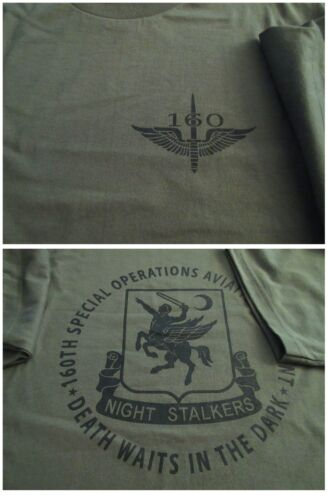160th NIGHT STALKERS SOAR Spec OPS Aviation T-Shirt Ultra Cotton LARGEOther Militaria - 135