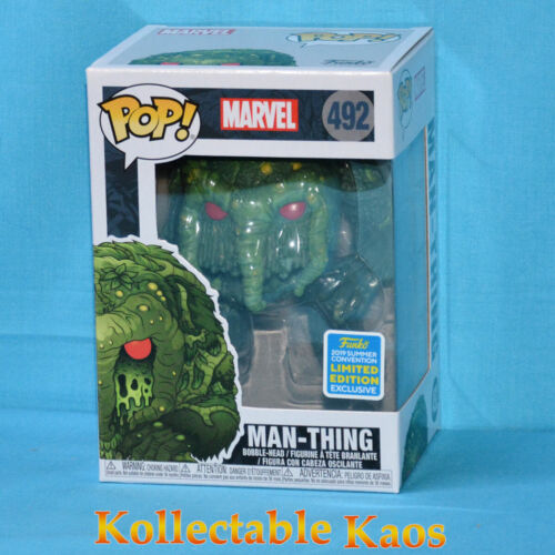 2019 SDCC SCE - Marvel - Man-Thing Pop! Vinyl Figure (RS) #492 + Protector