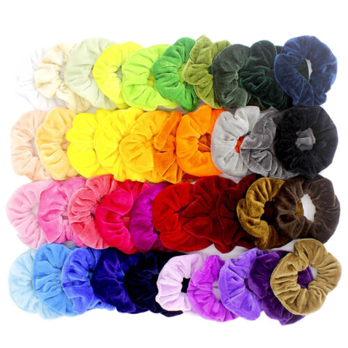 40 Pcs Women Hair Scrunchies Velvet Elastics Hair Ties Scrunchy Bands Ties Ropes