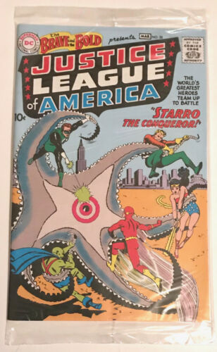 BRAVE & THE BOLD #28 -- EXACT REPLICA OF 1ST JUSTICE LEAGUE COMIC! LOOT CRATE