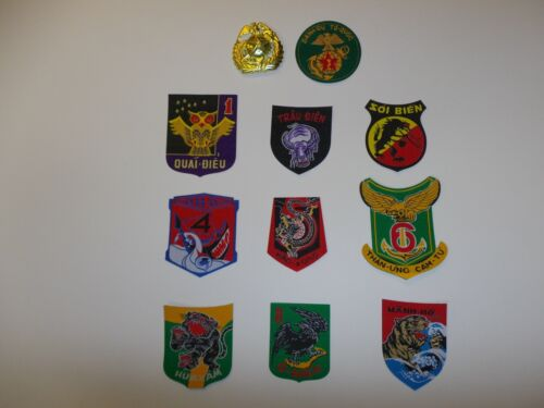 set3 RVN Vietnam Marine Corps TQLC 10 patches 1-9 Battalion & Div & badge IR11AReproductions - 156445