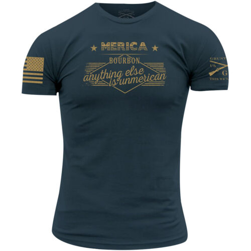 Grunt Style Merica Bourbon Unmerican T-Shirt - Blue <br/> Exclusive Seller of Grunt Style on eBay