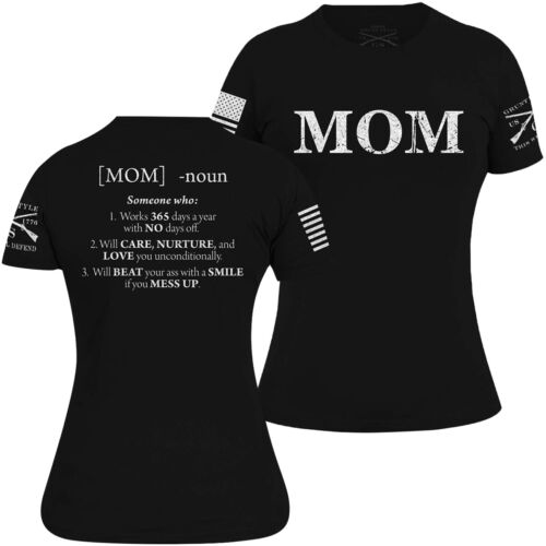 Grunt Style Women's Mom Defined T-Shirt - Black <br/> Exclusive Seller of Grunt Style on eBay