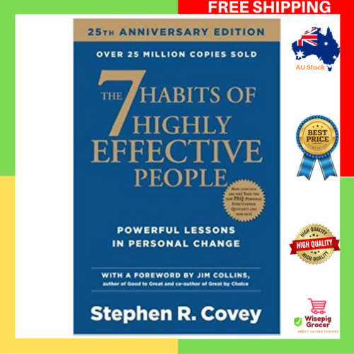 NEW The 7 Habits of Highly Effective People Paperback Book Seven Habit FREE SHIP