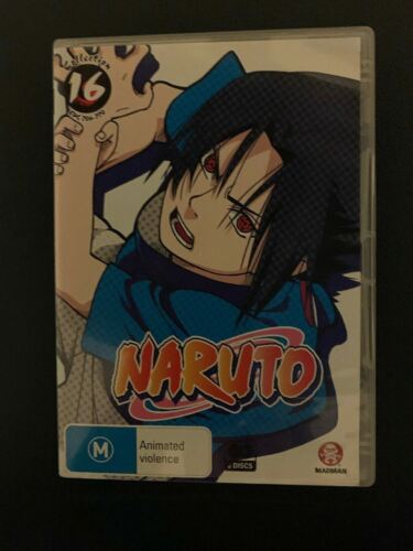 Naruto Uncut : Collection 16 : Eps 206-220 (DVD, 2010, 2-Disc Set) Region 4