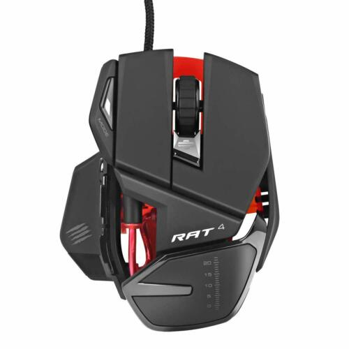 Mad Catz RAT4+ Wired Optical USB LED RGB Gaming Mouse R.A.T. 4+
