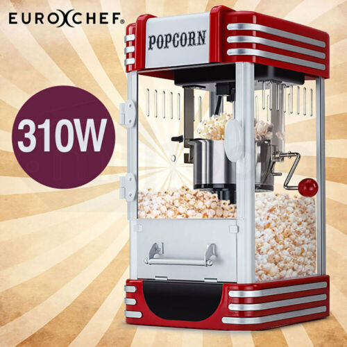 NEW EuroChef Popcorn Machine - Popper Popping Classic Cooker Microwave <br/> 20% OFF. Must use Checkout Code PAPA20. Ends 30/8. TCs.
