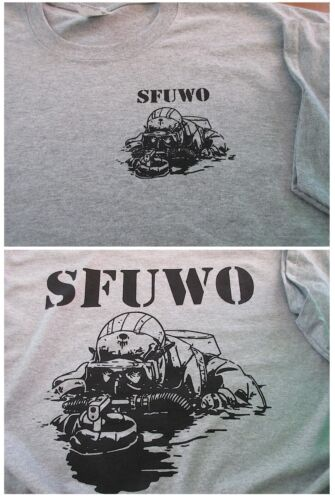 Combat Diver SFUWO Special Forces T-SHIRT Large Ultra CottonOther Militaria - 135