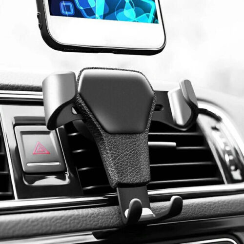 Gravity Car Air Vent Mount Cradle Holder For Mobile Cell Phone Iphone Gps Black
