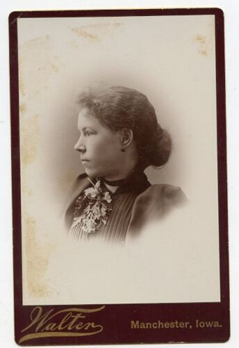 Cabinet Photo - Manchester, Iowa - Lady (Profile) Hair Pulled Back (ANNA)