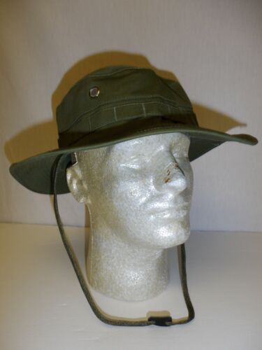 e2957-XL US Military Vietnam OD Poplin Boonie Hat size 61-63 W2BReproductions - 156445