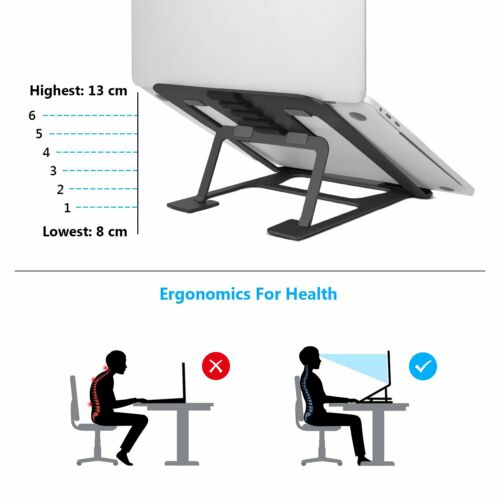SAVFY Laptop Stand Portable Foldable Aluminium Tablet Holder for MacBook Pro&Air
