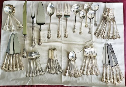 Sterling Silver Towle Old Master 7pc Place Setting Svc /12 plus Ser 95 pcs Total
