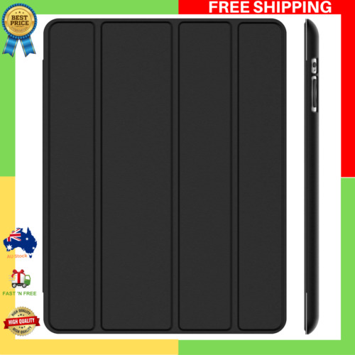 Case for Apple iPad 4 3 2 (Old Model) Smart Cover with Auto Sleep Wake Black NEW
