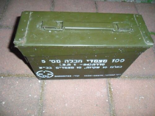 Idf Zahal Empty Ammunition Ammo Metal Box Crate Israeli Army Military AuthenticOther Militaria - 135