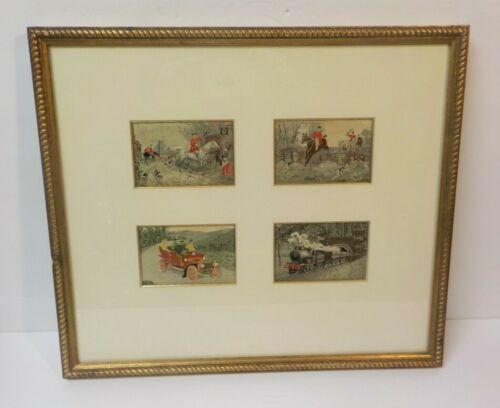 """Group/4 Framed """"Stevengraphs"""", Woven Silk Pictures, c. early 1900's"""