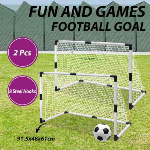 vidaXL Mini Soccer Goals Post Net Set 2 pcs for Kids 91.5x48x61cm Training