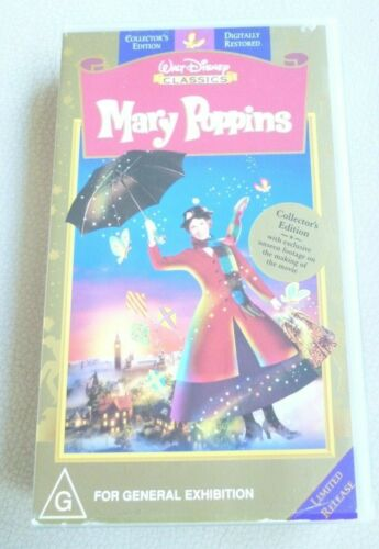 Disney MARY POPPINS Limited Release Collector's Edition  VHS PAL  VGC