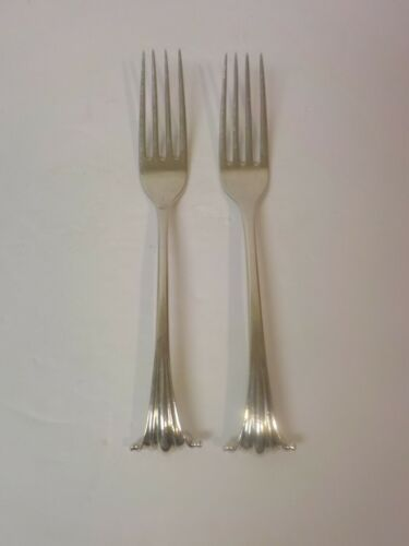 "Pair Sterling Silver ONSLOW 6.75"" Forks, 90 grams, Monogram ""D"""