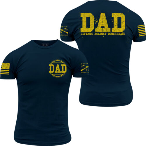 Grunt Style Dad Defend T-Shirt - Navy/Yellow <br/> Exclusive Seller of Grunt Style on eBay